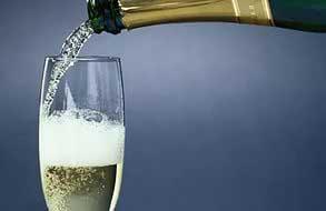 шампанское, бокал шампанского