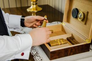 Zigarren in einem Humidor